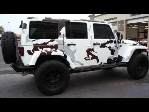 Slim Thug S White Camo Wrapped Jeep Youtube