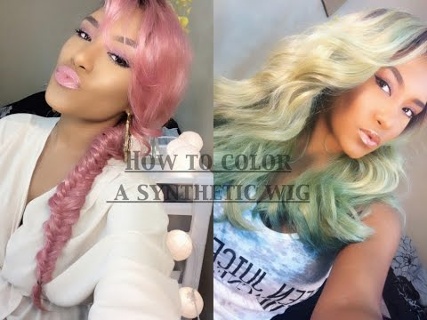 D.I.Y | How to Color A Synthetic Wig | Less Than 10mins