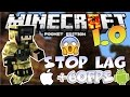 MINECRAFT PE 1.1.0 NO LAG - HOW TO STOP LAG IN MINECRAFT PE 1.0 NO MODS
