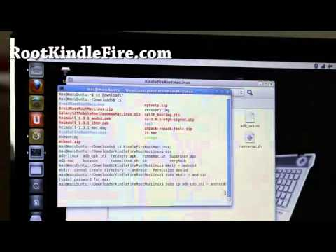 how to root kindle fire on mac osx or linux! youtube