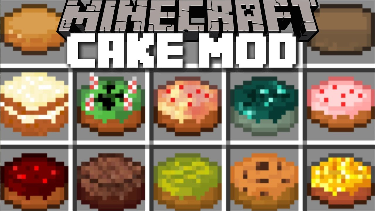Minecraft CAKE MOD / SURVIVE THE CAKE VILLAGE FESTIVAL WITH THESE CAKES!! Minecraft