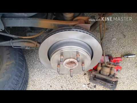 2000 something Dodge Durango rear brake job
