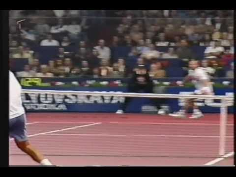 Great defensive skills from Thomas Muster and better celebration