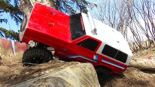 Backyard Trail Course 🇨🇦 Vaterra Ascender 4x4 Chevy BLAZER! Ideas for a Trail Course | RC ADVENTURES