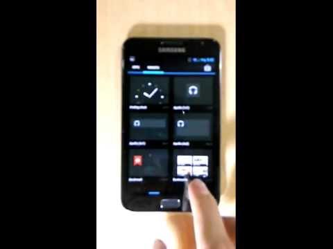 Samsung Galaxy Note Jelly Bean CyanogenMod 10 Overview