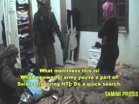 Excerpt: Rare peek at nightly raids of West Bank village (Nabi Saleh) with English subs