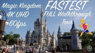 Magic Kingdom 2019 4K FASTEST 27 Minute FULL Walkthrough Tour | Walt Disney World Orlando Florida