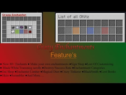 Crazy Enchants   Plugin Tutorial #2   1.7, 1.8, 1.9, 1.10, and 1.11   Fully Explained  