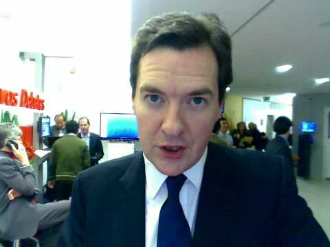 George Osborne discusses banking at Davos 2010