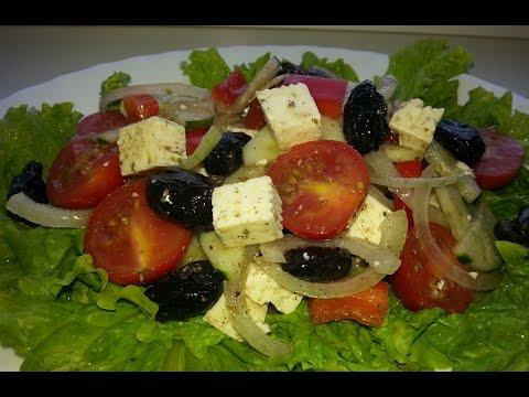 Греческий салат рецепт с фото вкусный