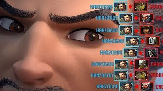 GODLIKE Hanzo Solos Enemy Team... *WITHOUT* ULTIMATE! Overwatch Funny & Epic Moments 514