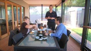 7. Cafe PVC and Colour Shade Blinds by Australian Outdoor Living
