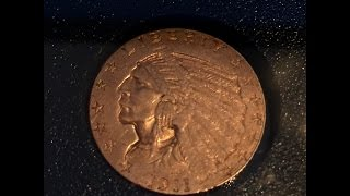 $2.5 gold quarter eagle USA pre33 coin came today - side story at end.
