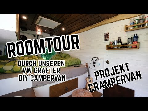 VW Crafter DIY Campervan Projekt Roomtour // in 30 Tagen zum Selfmade Campervan
