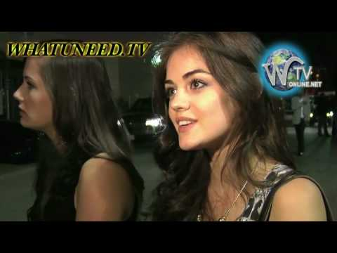 Lucy Hale and Russell Simmons leaving The Colony Night club Video