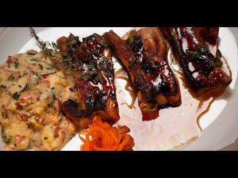 Свиные ребра с американским картофельным салатом | Мясо. От филе до фарша