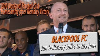 Blackpool Football Club homecoming after Wembley victory