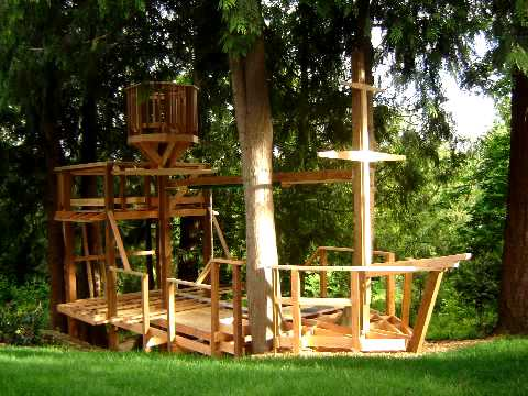backyard pirate ship playhouse plans