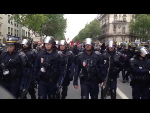 Protesters clash with police across France over new labor reforms