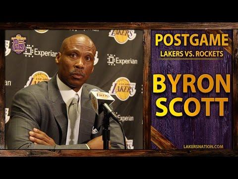 Lakers vs. Rockets: Byron Scott Talks Julius Randle's Injury, Dwight And Kobe Scuffle