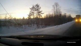 ДТП с автобусом на трассе Северодвинск - Архангельск.