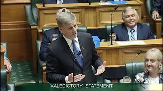 Valedictory Statement - Bill English