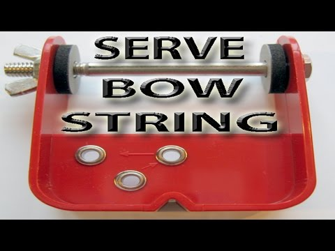 How to Serve a string. using a serving tool.  Archery. bow string.