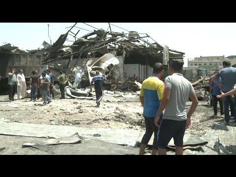 Hundred Killed or Injured in Truck Bombing at Baghdad Marketplace