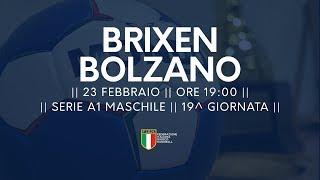 Serie A1M [19^]: Brixen - Bolzano 25-30