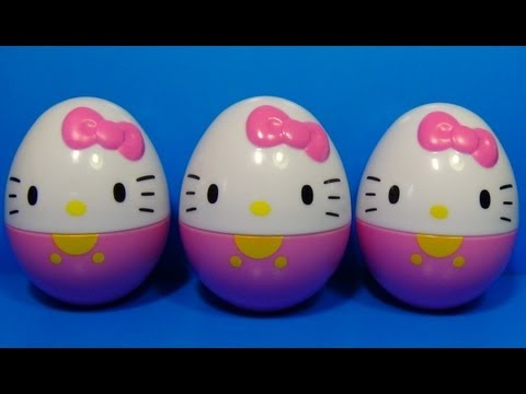 3 Surprise Eggs Hello Kitty Hello Kitty Hello Kitty! video