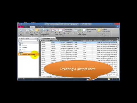 tutorial Microsoft Access database (Software online) 2014