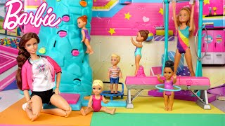Barbie & Ken Family First Gymnastics Class Morning Routine - Titi Toys