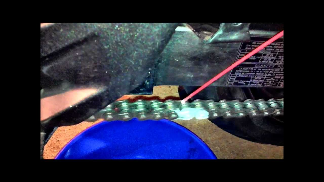How To Clean And Lube A Motorcycle Chain Youtube