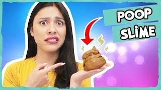 SLIME DIY - HOW TO MAKE POOP SLIME (Butter Slime & Fluffy Slime) - SUPER EASY!