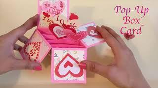 Pop-up box card Tutorial   Valentines Special   14 Feb   Valentines day 2019