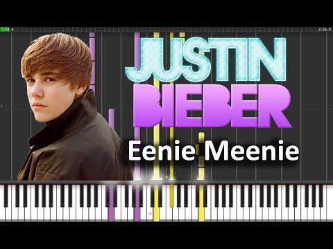 Justin Bieber - Eenie Meenie Piano Tutorial  (synthesia + Sheets + Midi) video
