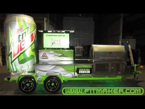 BBQ Pitmasters Diet Dew BBQ Tailgate Trailer by Pitmaker!