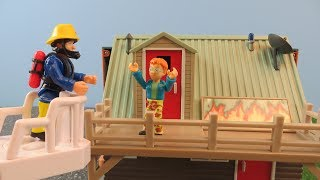 Fireman Sam Toys Episode 10 Norman Fire at Mountain Lodge Toy 2018 Firefighter Sam Fire Station