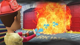 SAVING GRANNY FROM A BURNING HOUSE?! (Garry's Mod Gameplay Gmod Roleplay) Fire Fighter Jobs Survival