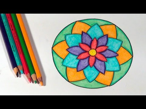 Como desenhar mandalas how to draw mandalas c mo dibujar mandalas youtube - Mandala facile ...