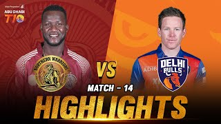 Northern Warriors vs Delhi Bulls I Day 5 Match 14 I Aldar Properties Abu Dhabi T10 I Season 3
