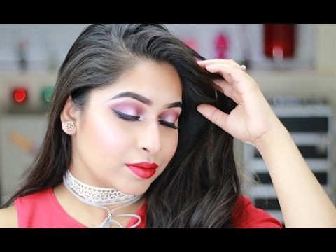 Red Makeup Tutorial   Valentines Day Makeup Tutorial 2017