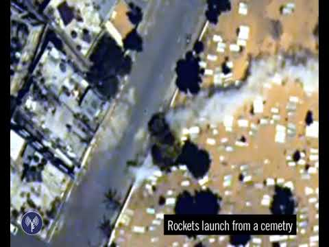 Hamas Terrorists Fire a Rocket from a Graveyard