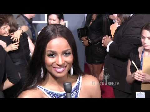 Nicki Minaj and Ciara at 2011 Grammy Awards Red Carpet