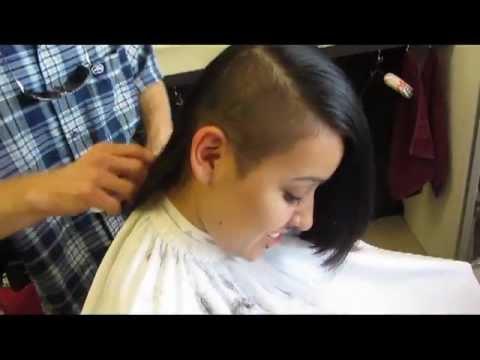 Long Hair Buzz Side Haircut Video YouTube
