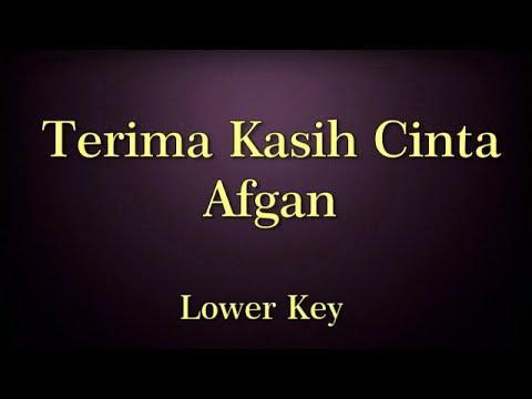 Terima Kasih Cinta Afgan Karaoke Lower Key
