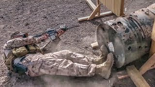 U.S. Marines - M4 Carbines, Advanced Marksmanship Range Live Fire
