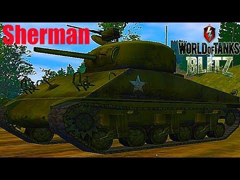 WoT Blitz обзор Sherman средний британский танк новичкам британская ветка World of Tanks Blitz#67