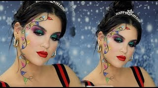 Festive AF Christmas Lights Makeup Look | Nicole Guerriero