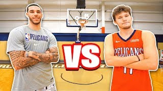 Epic NBA Basketball QnA TRICKSHOTS vs Lonzo Ball!